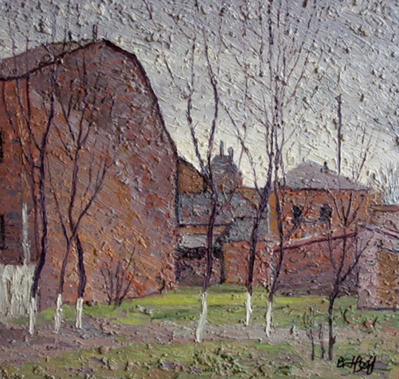 Valeriy NESTEROV - Peinture - Taganka court yard. Moscow