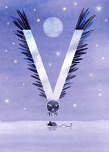 Rocío DEL MORAL - Estampe-Multiple - Animal Alphabet - The letter V    (Cat N° 6195)