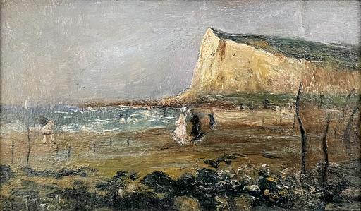 Norbert GOENEUTTE - 绘画 - Sur la plage, Le Tréport