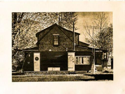 John BAEDER - Estampe-Multiple - House With Trailer