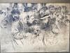 Elie Anatole PAVIL - Drawing-Watercolor - Escena con personajes