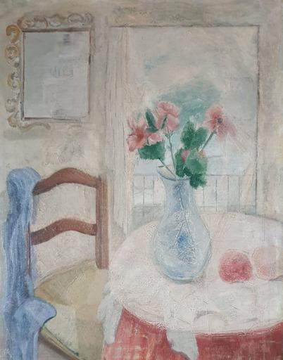 Juan Manuel DIAZ CANEJA - Pittura - Interior con jarrón con flores