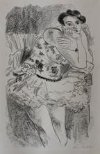 亨利·马蒂斯 - 版画 - Dancer in Half-Leg Pose with Hand to Chin