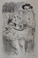 Henri MATISSE - Radierung Multiple - Dancer in Half-Leg Pose with Hand to Chin