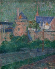 Émile JOURDAN - Pintura - Les remparts de Vannes