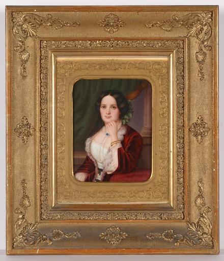 "Johann LANGHAMMER - Peinture - ""Countesse von Schoenborn"", Porcelain Painting"