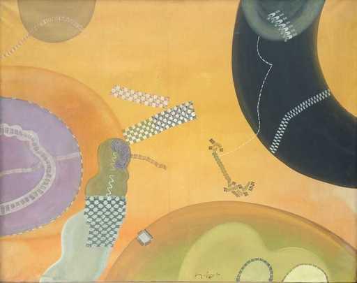 Sergio DANGELO - Peinture - Ritmi giocondi dell'autostrada