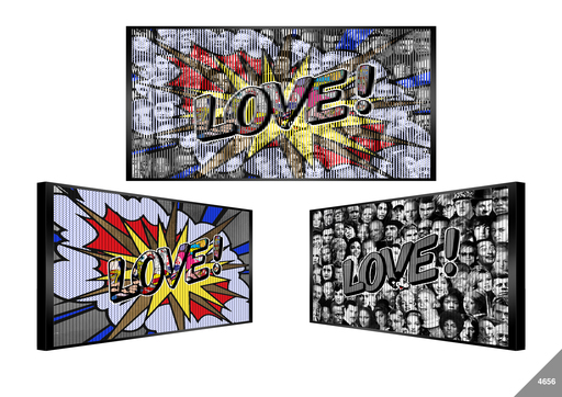 Patrick RUBINSTEIN - Painting - Love pops out of art