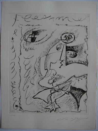 André MASSON - Stampa-Multiplo - GRAVURE SIGNE AU CRAYON NUM/130 HANDSIGNED NUMB ETCHING