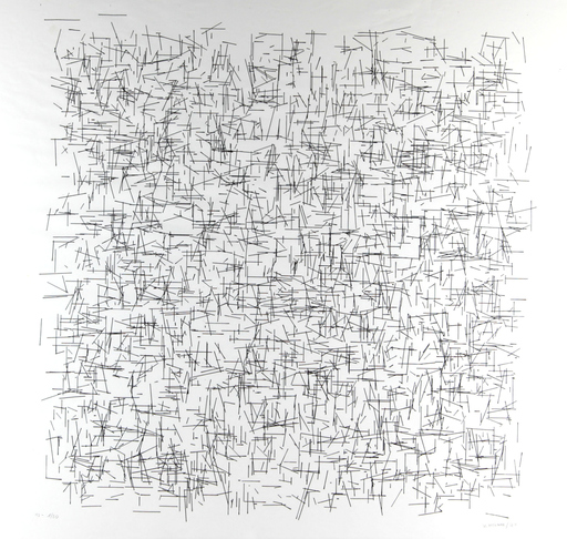 Véra MOLNAR - Drawing-Watercolor - Mondrian dérangé