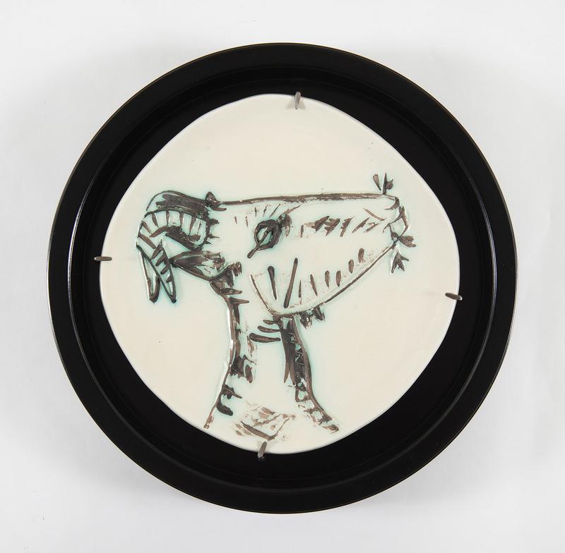 Pablo PICASSO - Ceramic - Tête de chèvre de profil (A.R.109)