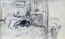 Édouard VUILLARD - Drawing-Watercolor - Untitled
