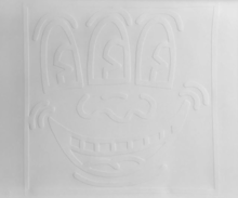 凯特•哈林 - 版画 - 3-Eyed Smiley (White Icon)