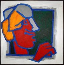 马克布勒·菲达·侯赛因 - 绘画 - Rajasthani Head