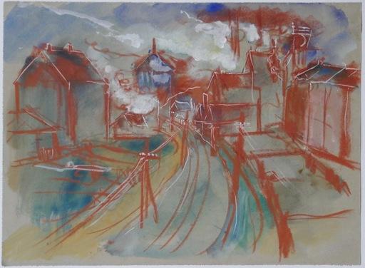 Friedrich EINHOFF - Dessin-Aquarelle - Industrie 3