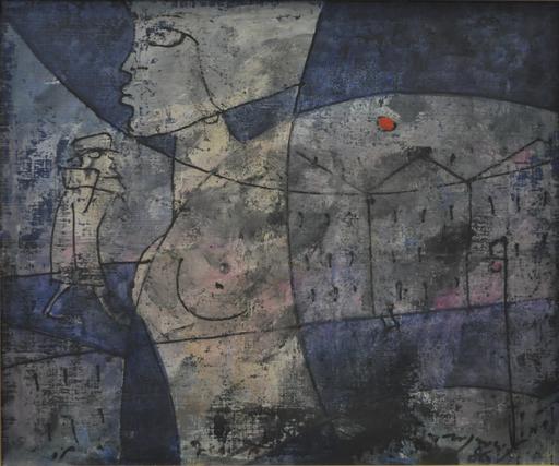 Franco ROGNONI - Painting - Città e passanti