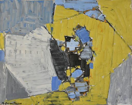 Natalia DUMITRESCO - Peinture - Yellow and Gray Composition
