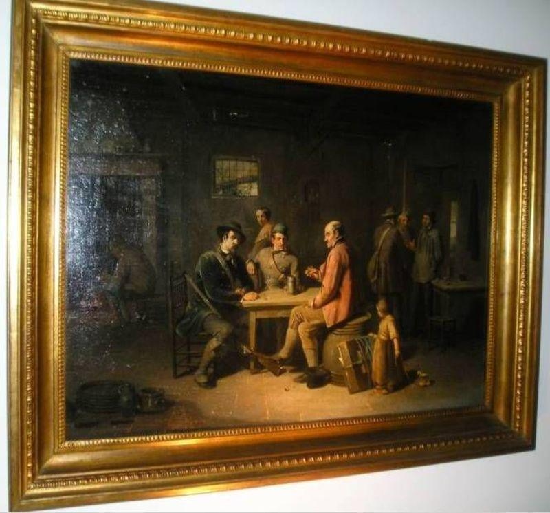 Henri DE PRATERE - Painting - Rest during hunting