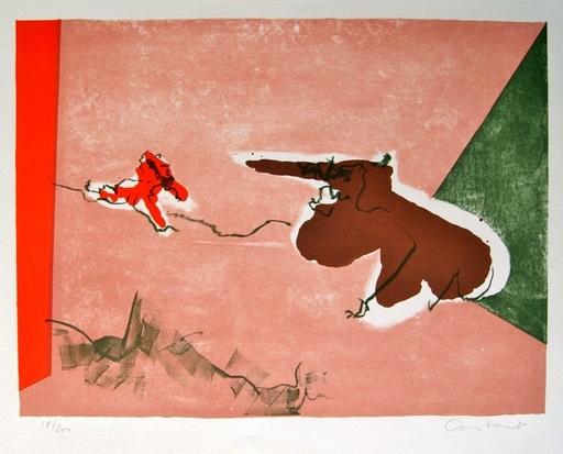 CONSTANT - Estampe-Multiple - Twee Dieren, 1965