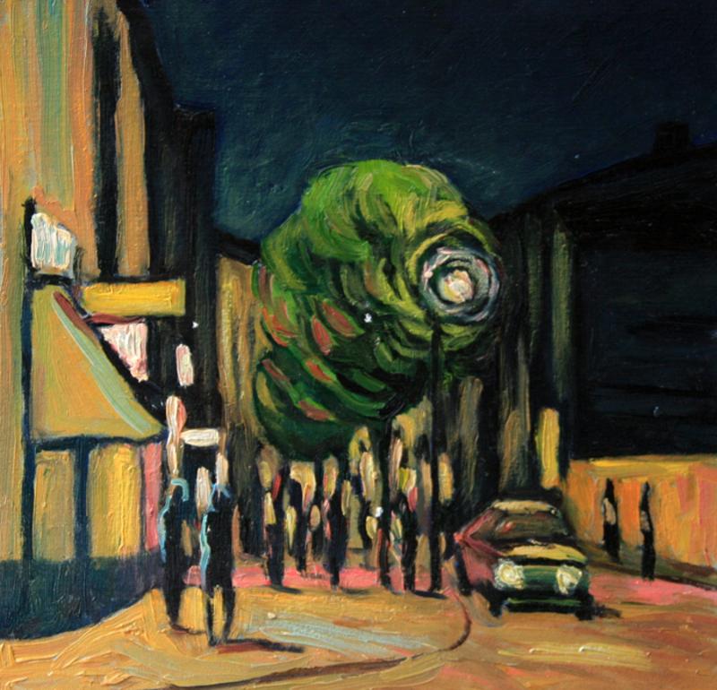 Valeriy NESTEROV - Gemälde - Neglinnaya Street. Moscow