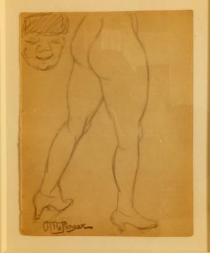 Jean METZINGER - Drawing-Watercolor - Nu