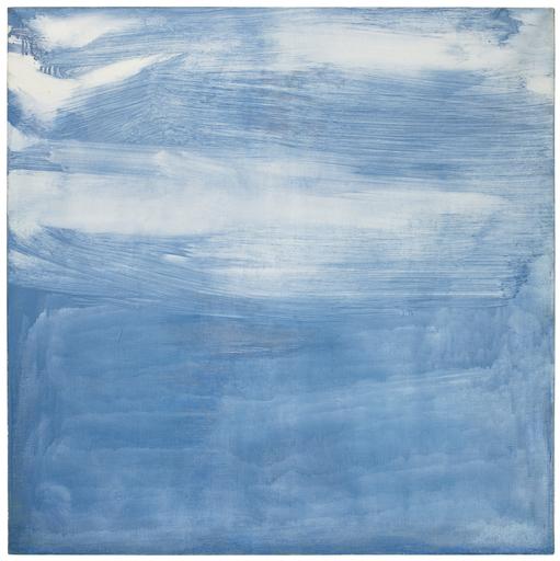 Olivier DEBRÉ - Peinture - Gris Bleu Pâle