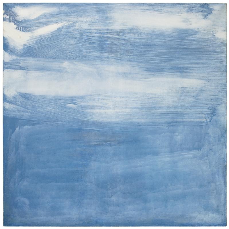Olivier DEBRÉ - Painting - Gris Bleu Pâle