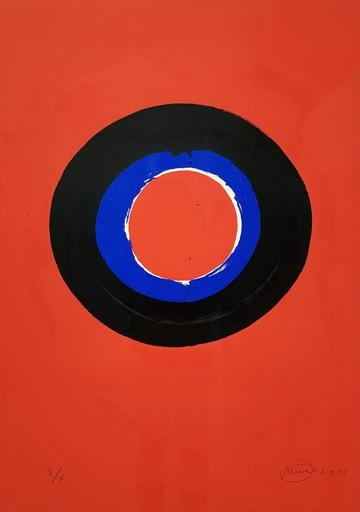 Otto PIENE - Estampe-Multiple - Blue Moon #2