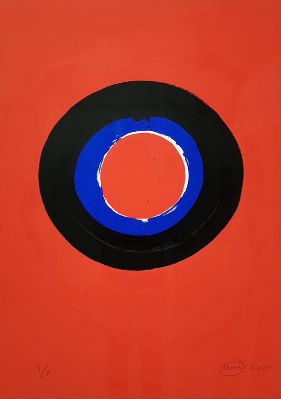 Otto PIENE - Druckgrafik-Multiple - Blue Moon #2