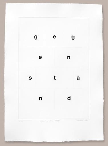 Heinz GAPPMAYR - 版画 - Gegenstand