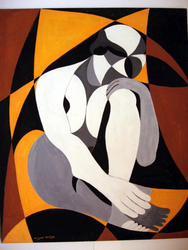 Miguel DEVEZE - Peinture - LE PENSEUR