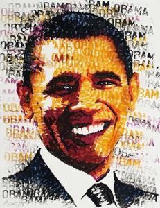 Chris BRITZ - Dibujo Acuarela - Obama