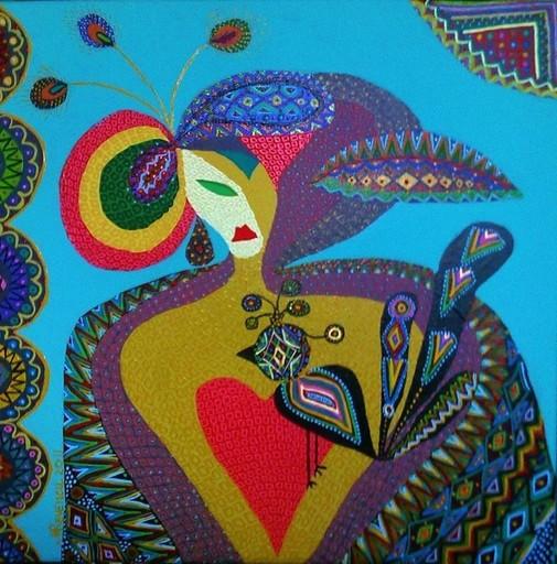 MIMI REVENCU - Painting - Bird