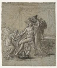 Anne-Louis GIRODET - Drawing-Watercolor - Héro et Léandre