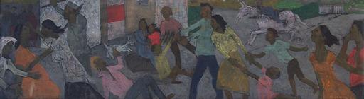 Grégoire MICHONZE - Painting - Village Fight