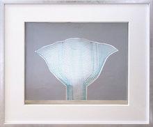 海因茨·马克 - 版画 - Silberfächer Blau
