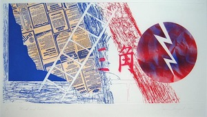 "James ROSENQUIST, ""Wind and Lightning"" (G. 137)"