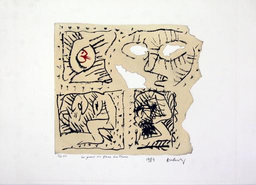 Pierre ALECHINSKY - Grabado - Les Yeux En Face de Troux