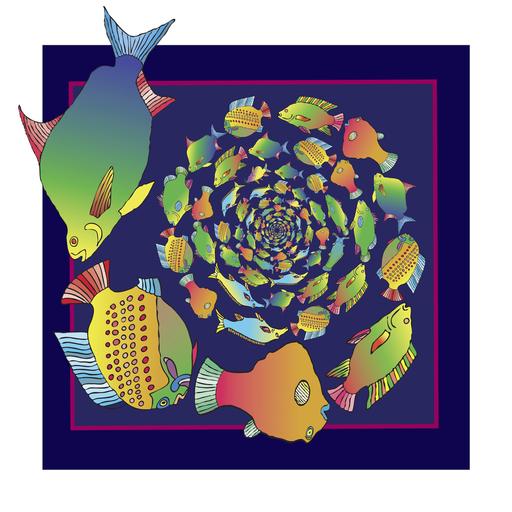 Paul JOLICOEUR - Druckgrafik-Multiple - Spirale Sur le Nil
