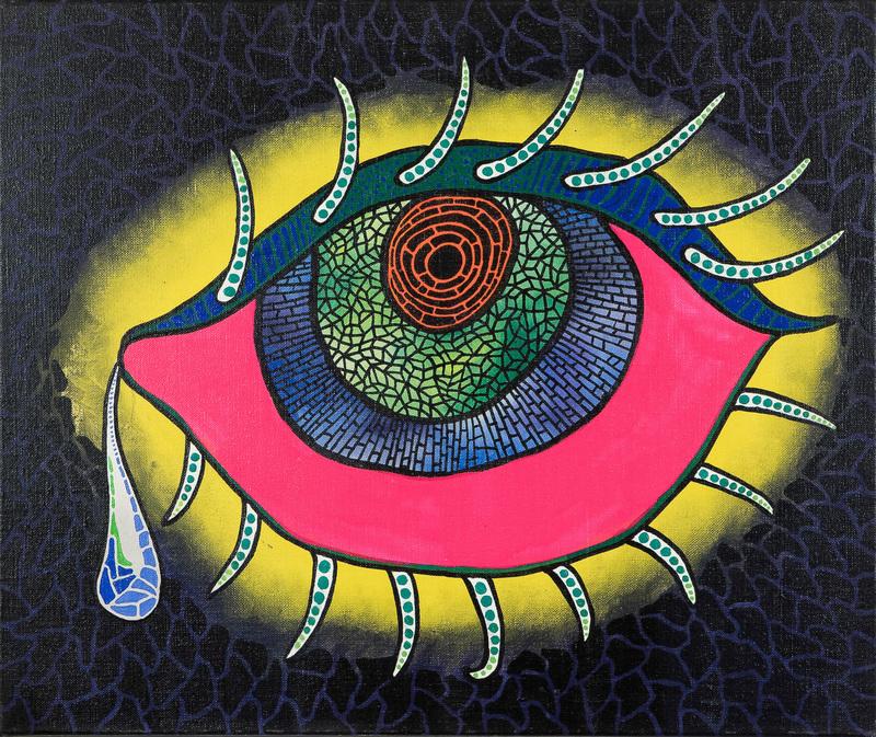 Yayoi KUSAMA - Pittura - Teardrop