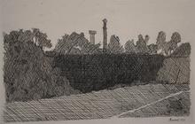 乔治亚•莫兰迪 - 版画 - View of Montagnola, Bologna