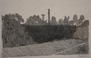 Giorgio MORANDI - Stampa-Multiplo - View of Montagnola, Bologna