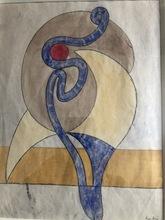Auguste HERBIN - Dessin-Aquarelle - VOLUTES 1932