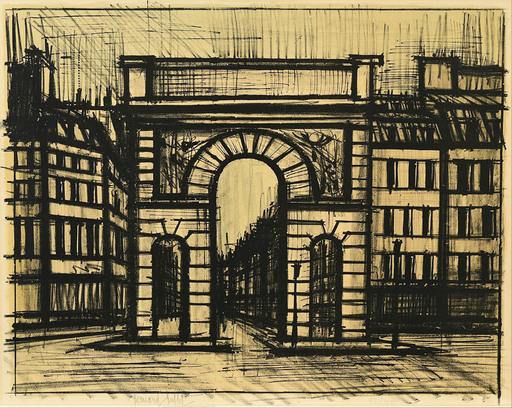 Bernard BUFFET - Print-Multiple - La Porte Saint-Martin