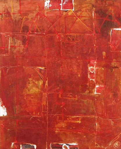 Xavier PUIGMARTI - Pintura - Maisons rouges