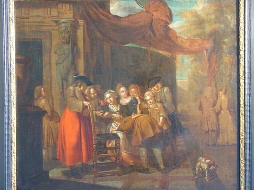 Jan Baptist LAMBRECHTS - Pintura - Pfänderspiel