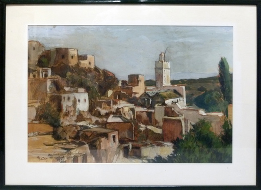 Henri Jean PONTOY - Drawing-Watercolor - Paysage orientaliste