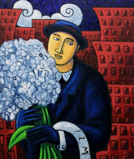 Jacques TANGE - Peinture - Useless flowers    (Cat N° 4135)