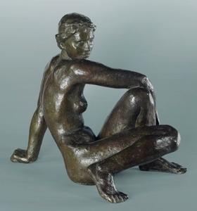 Fritz KLIMSCH - Escultura - Kleine Schauende