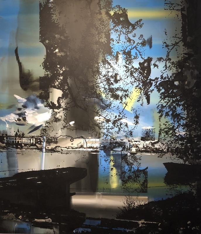 """Peter CVIK - Peinture - 2 Banks""""y"""""""